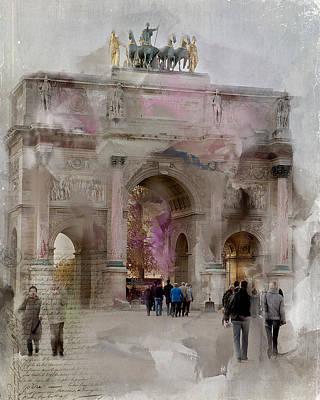 The Arc De Triomphe Du Carrousel Poster by Evie Carrier