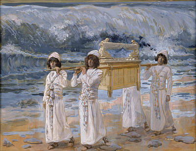 The Ark Passes Over The Jordan Poster by James Tissot