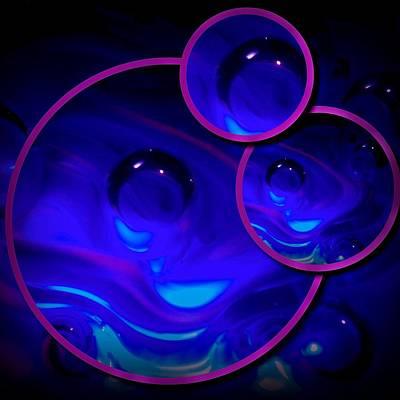 Art Glass Project-4 Cobalt Blue Lampwork Poster by Susan Maxwell Schmidt
