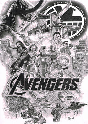 The Avengers Poster by David Horton