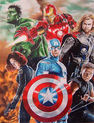 The Avengers Poster by Joseph Christensen