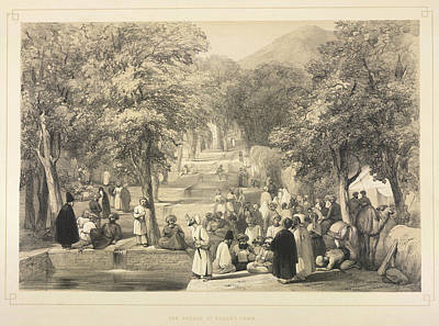 The Avenue At Baber's Tomb Poster by British Library