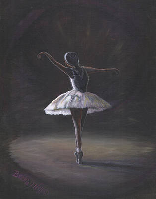 The Ballerina Poster by Beckie J Neff