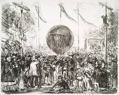 The Balloon (1862) By Edouard Manet Poster by Miriam And Ira D. Wallach Division Of Art, Prints And Photographs