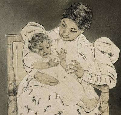 The Barefooted Child Poster by Mary Stevenson Cassatt