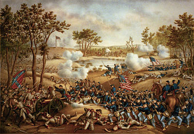 The Battle Of Cold Harbor Poster by Kurz and Allison