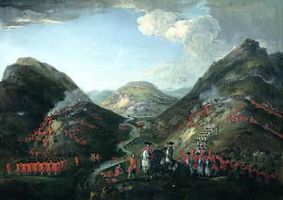The Battle Of Glenshiel, 1719 Poster by Peter Tillemans