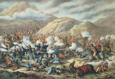 The Battle Of Little Big Horn, June 25th 1876 Poster by American School