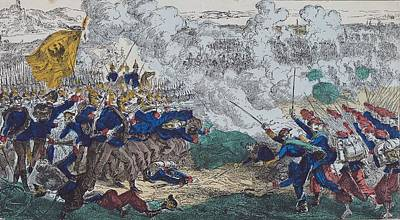 The Battles Of Champigny And Villiers-sur-marne, 30th November 1870, 1870-99 Coloured Engraving Poster by French School