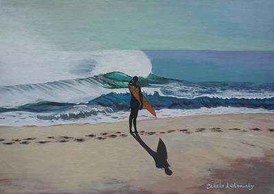 The Beach Poster by Chikako Hashimoto Lichnowsky