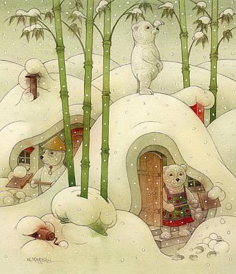 The Bears Poster by Kestutis Kasparavicius