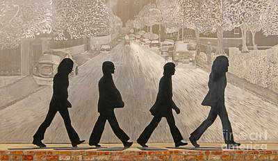 The Beatles Abbey Rd Poster by Cheryl Aguiar