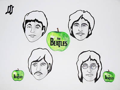 The Beatles Apple 1 Poster by Kenneth A Mc Williams