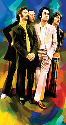 The Beatles Artwork 3 Poster by Sheraz A