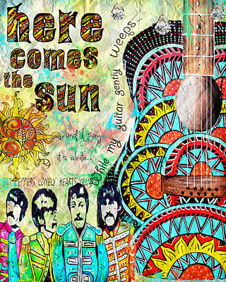 The Beatles Here Comes The Sun Poster by Tara Richelle