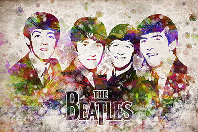 The Beatles In Color Poster by Aged Pixel