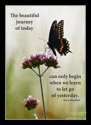 The Beautiful Journey Of Today Poster by Kerri Farley