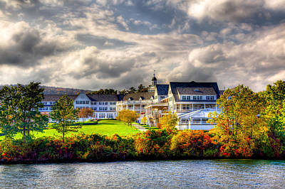 The Beautiful Sagamore Hotel On Lake George Poster by David Patterson