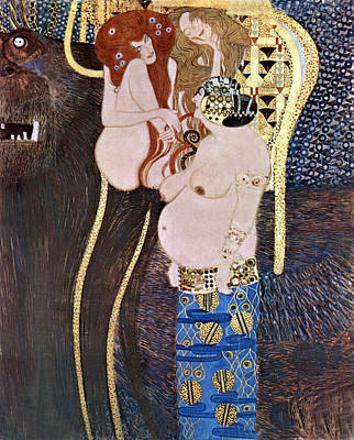 The Beethoven Frieze Poster by Gustive Klimt
