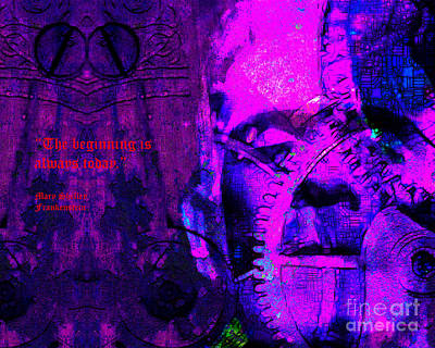 The Beginning Is Always Today 20130718 Text V2 Poster by Wingsdomain Art and Photography