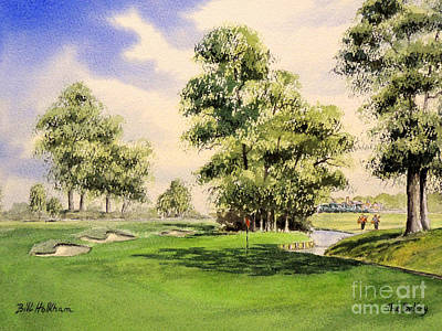 The Belfry Brabazon Golf Course 10th Hole Poster by Bill Holkham