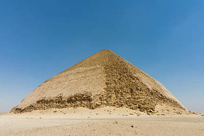 The Bent Pyramid Built By Old Kingdom Poster by Nico Tondini