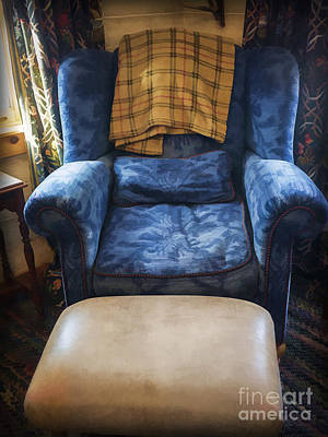 The Big Blue Chair - Oil Poster by Edward Fielding