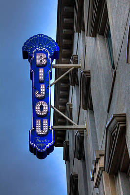 The Bijou Theatre - Knoxville Tennessee Poster by David Patterson