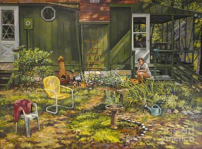 The Birdbath Poster by William Bukowski