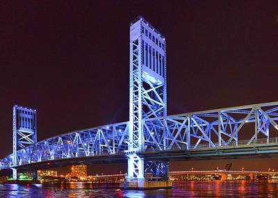 The Blue Bridge - Main Street Bridge Jacksonville Poster by Christine Till