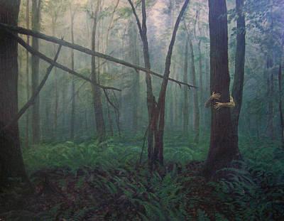The Blue-green Forest Poster by Derek Van Derven