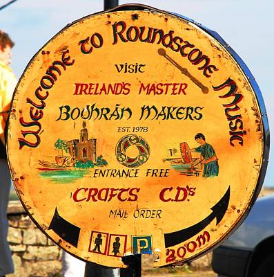 The Bodhran Makers Poster by Charlie and Norma Brock