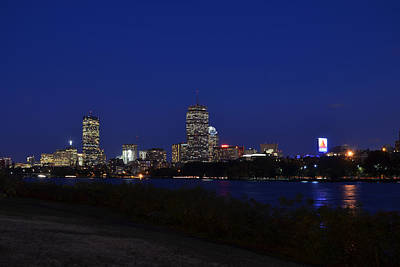 The Boston Skyline At Dusk Poster by Toby McGuire