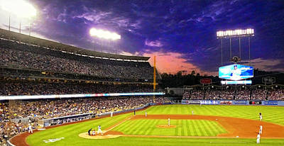 The Boys Of Summer At Dodger Stadium Poster by Ron Regalado