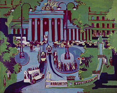 The Brandenburg Gate Berlin Poster by Ernst Ludwig Kirchner