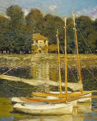 The Bridge At Argenteuil Poster by Claude Monet