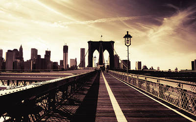 The Brooklyn Bridge - New York City Poster by Vivienne Gucwa