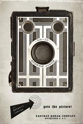 The Brownie Junior Six-20 Camera Poster by Tom Mc Nemar