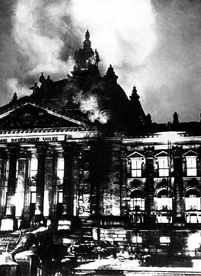 The Burning Reichstag In February 27 Poster by Everett