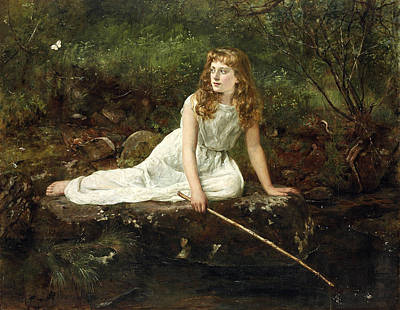The Butterfly Poster by John Collier