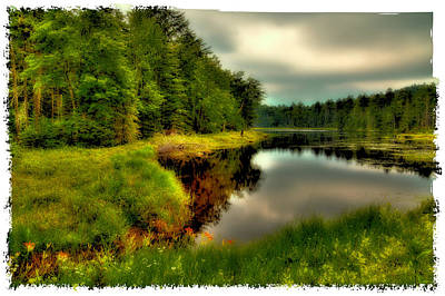 The Calm Of Fly Pond Poster by David Patterson