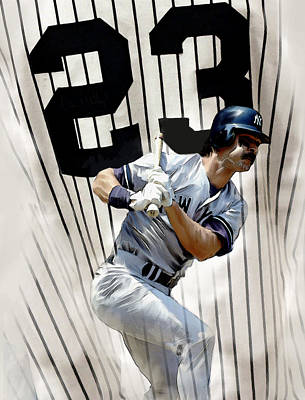The Captain Donnie Baseball Don Mattingly Poster by Iconic Images Art Gallery David Pucciarelli