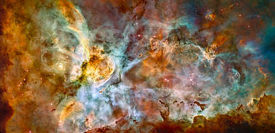 The Carina Nebula - Star Birth In The Extreme Poster by Marco Oliveira