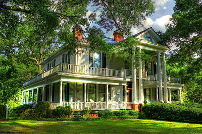 The Carlton Home A True Southern Antebellum Type Home Poster by Reid Callaway
