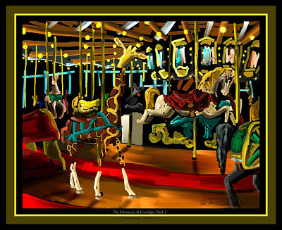 The Carousel At Coolidge Park Three - Chattanooga Landmark Series - # 8 Poster by Steven Lebron Langston