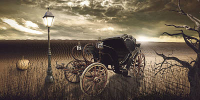 The Carriage In The Desert Poster by Eleonora Krstulovic