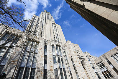 The Cathedral Of Learning 5 Poster by Jimmy Taaffe