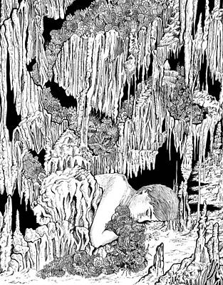 The Cave Poster by Sonja Funnell