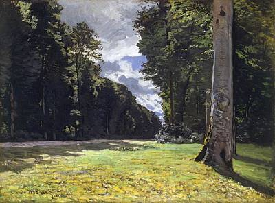 The Chailly Road - Fontainebleau Poster by Claude Monet