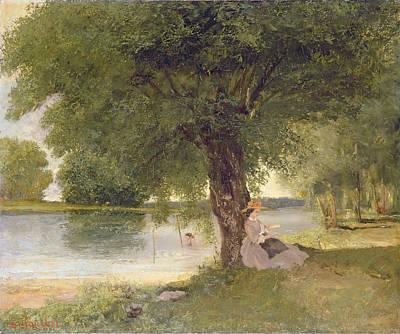 The Charente At Port Bertaud Poster by Gustave Courbet